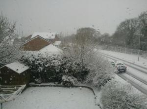 All this snow in 2 hours in Southampton, not bad!