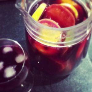 Come home to find dad had made Sangria.