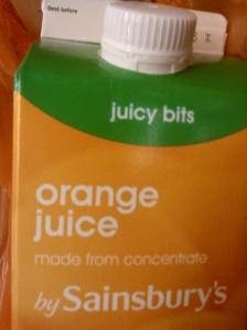 When you spend money on Fruit Juice, but fail to check if the bits have been removed...