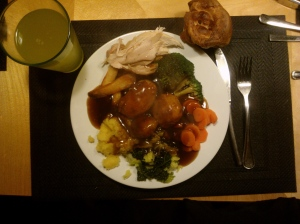 Dad's homemade roast dinner!