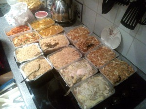 I have a big family who like a lot of Chinese food.