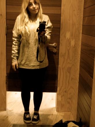 Urban Outfitters - Grey shoulderless jumper: £18