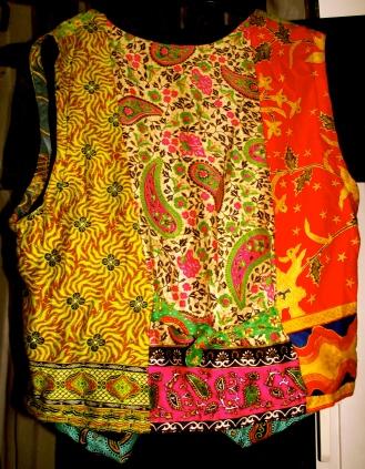 Retro, vintage, aztec waistcoat - Back: £10