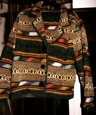Vintage aztec jacket: £15