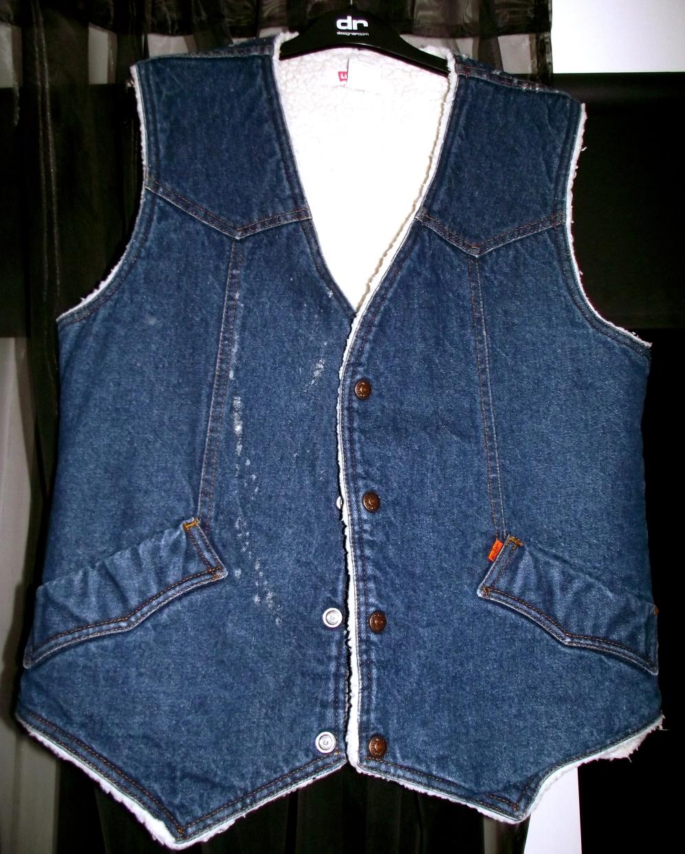 Denim waistcoat: £3