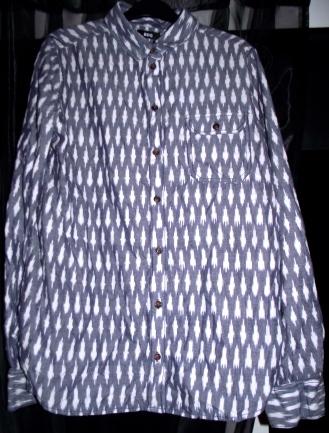 Blue shirt: £15