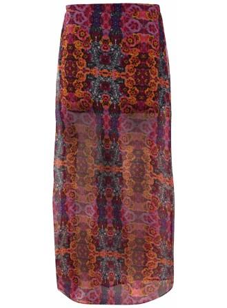 Pink Floral Jewel Maxi Skirt, £10 - Internacionale