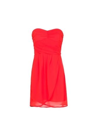 Strapless chiffon dress, £22.99 - Mango