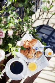 I miss breakfast in the sun. The smell of fresh bread.