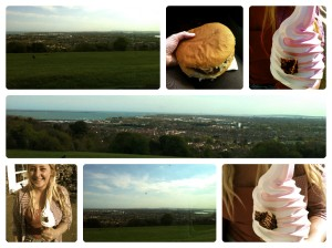 Portsdown Hill and Bluebird Cafe, Lee on the Solent