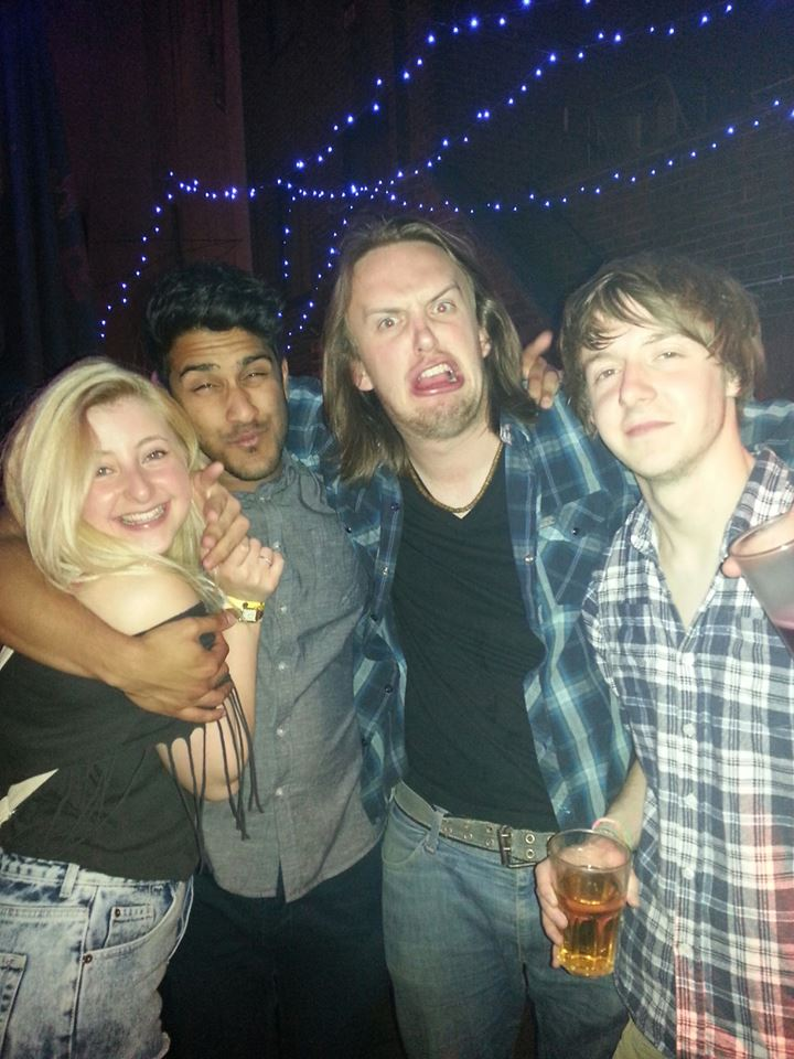 The only photo from the night... (ignore my drunkedn state) Me, Shomik, Daniel
