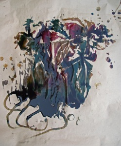 Our work of art that was revealed from all the left over ink.